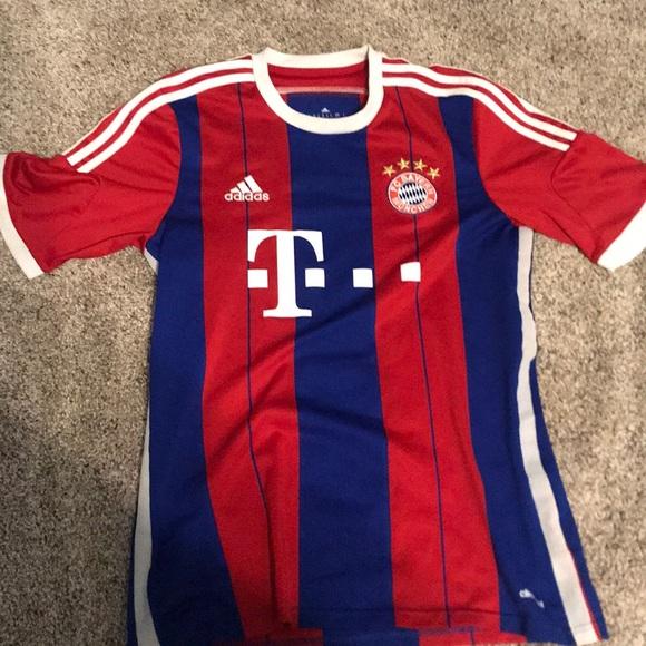 size 40 b6b01 920ba Bayern munich soccer jersey. Size adult small